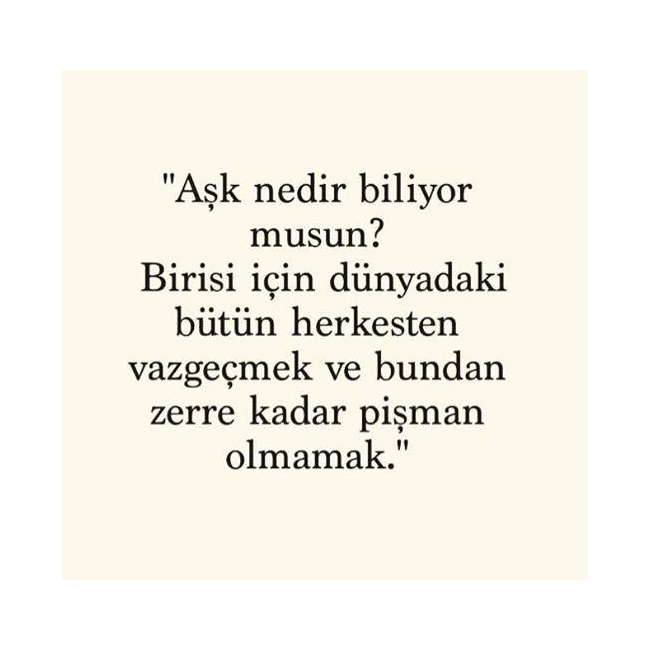 Aşk Nedir Biliyor musun?