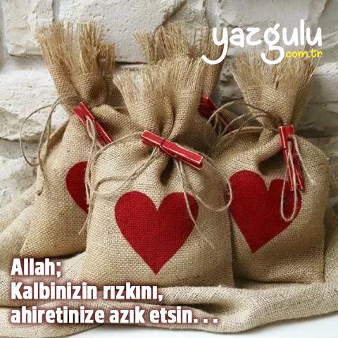 Allah; Kalbinizin rızkını, ahiretinize azık etsin. . .
