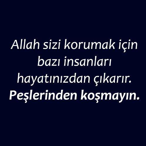 Allah sizi korumak için bazı insanları