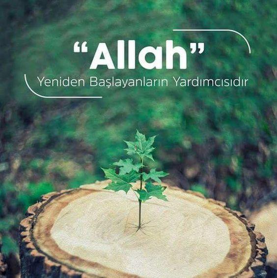 Allah yeniden başlayanların yardımcısıdır.
