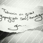 Takvimin en güzel yaprağıydı seni tanıdığım gün…